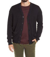 men's nordstrom v-neck cardigan, size xx-large - black
