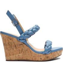 zaria leather & cork wedge sandal - 11 summer jeans leather & cork
