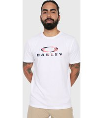 camiseta blanco-rojo-azul oakley ellipse ss