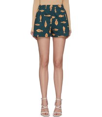 'poisson' fish print shorts