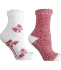 minxny women's bows lavender infused slipper socks, 2-pair pack