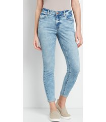 maurices womens high rise medium marble wash jegging blue