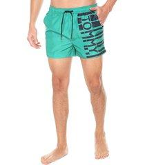 traje de baño verde-azul tommy hilfiger