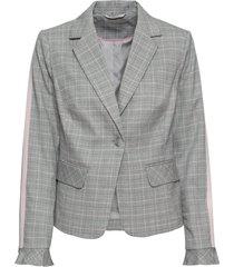blazer corto principe di galles (nero) - bpc selection