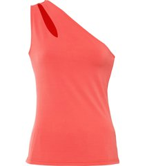 top con cut-out (rosso) - bodyflirt
