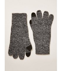 mens grey salt and pepper touchscreen gloves