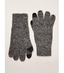 mens grey salt and pepper touchscreen gloves