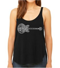la pop art women's premium word art flowy tank top- blues legends