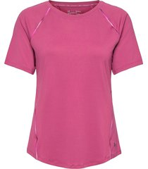 ua rush scallop ss t-shirts & tops short-sleeved rosa under armour