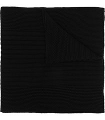canada goose ribbed knit scarf - black