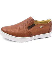 sapatênis slip on shoes grand caramelo.