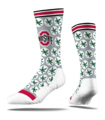 strideline ohio state buckeyes comfy full sub crew socks