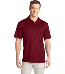 port authority k548 men's tech embossed polo shirt - regal red