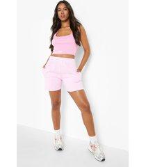 overdye pastel sweat shorts, pink