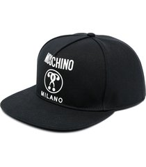 moschino logo-print six-panel cap - black