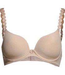 tom padded bra lingerie bras & tops push-up bra beige marie jo