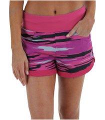shorts asics fuzex 3inches - feminino - rosa