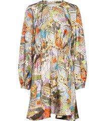 coco, 926 silk twill korte jurk multi/patroon stine goya