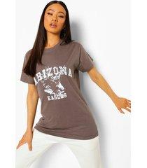 oversized arizona t-shirt, charcoal