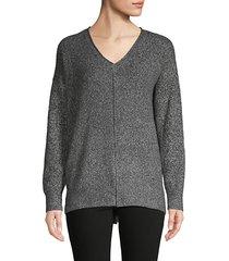 heathered high-low sweater
