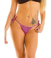 biquini bottom single leopardo stx feminino
