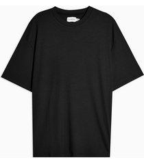 mens black slinky ribbed t-shirt
