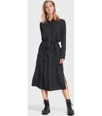 alix 201328437 ladies woven modal tunic dress zwart