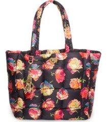 betsey johnson women's puffy posey tote bag