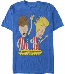 beavis and butthead mtv men's rock out merica' logo short sleeve t-shirt