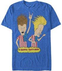 beavis and butthead mtv men's rock out merica' logo short sleeve t-shirt