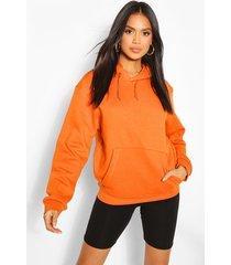 basic oversized hoodie, orange