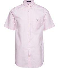 the oxford shirt reg ss bd overhemd met korte mouwen roze gant
