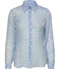 3179 - latia blouse lange mouwen blauw sand