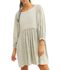 women's endless summer by free people get obsessed babydoll tunic dress, size medium - green