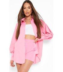oversized boyfriend overhemd, pink