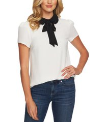 cece tie-neck peter pan-collar top
