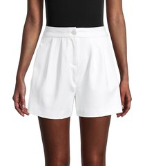 saks fifth avenue women's high-waisted tailored shorts - white - size 6