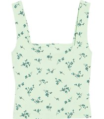 women's leith square neck tank, size x-large - green