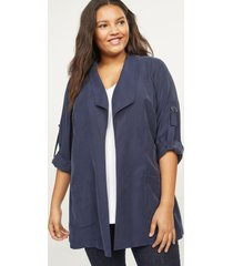 lane bryant women's soft twill draped jacket 18/20 night sky