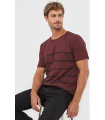 camiseta colombo listrada vinho - vinho - masculino - algodã£o - dafiti