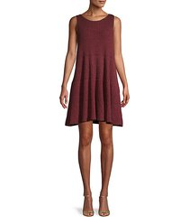 cotton-blend a-line dress