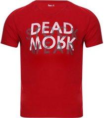 camiseta hombre dead mork color rojo, talla m