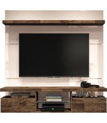 painel home suspenso 1.6 para tv atã© 55 sala de estar lennon off white/deck - gran belo - off-white - dafiti