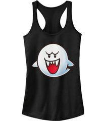 fifth sun nintendo women's super mario boo face racerback tank top