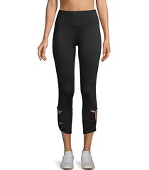 cut-out cropped leggings