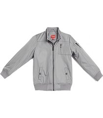 chaqueta russell nylon jacket clasicc gris guess