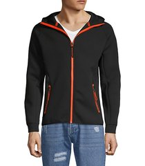 full-zip hooded jacket