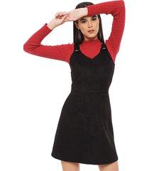 vestido corto io negro - calce regular