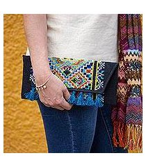cotton blend clutch, 'kaleidoscope window' (mexico)
