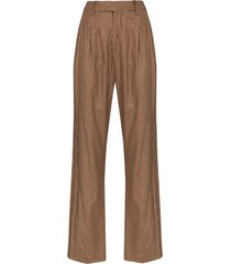 unravel project hybrid straight-leg trousers - neutrals